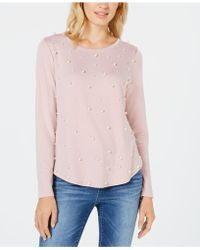 INC International Concepts - I.n.c. Imitation Pearl Sweatshirt, Created For Macy's - Lyst