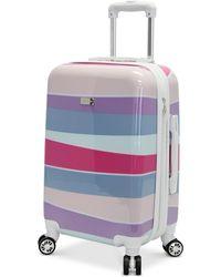 Steve Madden - Stripes Expandable Hardside Carry-on Spinner Suitcase - Lyst