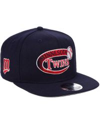 sneakers for cheap 8fa3f e27ab KTZ - Minnesota Twins Swoop 9fifty Snapback Cap - Lyst