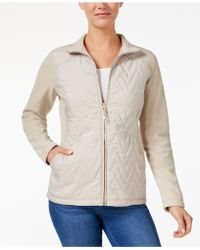 Style & Co. | Quilted Fleece-contrast Jacket | Lyst