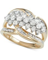 Macy's - Diamond Cluster Statement Ring (1-1/2 Ct. T.w.) - Lyst