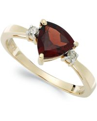 Macy's - 14k Gold Garnet (1-1/3 Ct. T.w.) And Diamond Accent Ring - Lyst