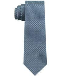 DKNY - Micro Texture Slim Silk Tie - Lyst