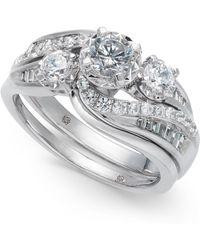 Macy's   Diamond Swirl Bridal Set (1 Ct. T.w.) In 14k White Gold   Lyst