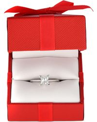 Macy's - Diamond Princess Solitaire Engagement Ring (1 Ct. T.w.) In 14k White Gold - Lyst