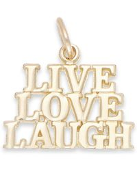 Macy's - Live Laugh Love Stacked Charm In 14k Gold - Lyst