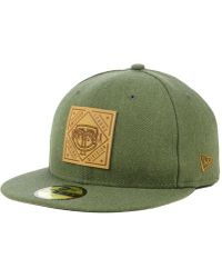 size 40 284a0 a4e94 KTZ Oakland Athletics On-field Mesh Back 59fifty Fitted Cap in Green for  Men - Lyst