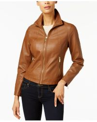 ba0f33443bd Women s Kenneth Cole Leather jackets Online Sale