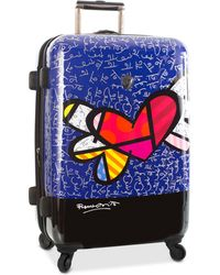 """Heys - Britto Heart With Wings 26"""" Expandable Hardside Spinner Suitcase - Lyst"""