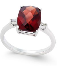 Macy's - Rhodolite Garnet (3-1/2 Ct. T.w.) And Diamond Accent Ring In Sterling Silver - Lyst
