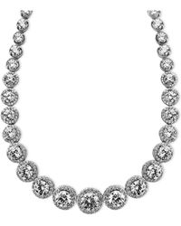 Arabella - Sterling Silver Necklace, Swarovski Zirconia Necklace (55-1/3 Ct. T.w.) - Lyst