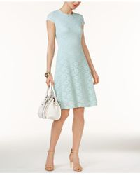 Alfani - Petite Lace Fit & Flare Dress, Created For Macy's - Lyst