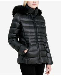 CALVIN KLEIN 205W39NYC - Faux-fur-trim Down Puffer Coat - Lyst