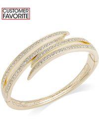 Charter Club | Gold-tone Crystal Pavè Bypass Bracelet | Lyst