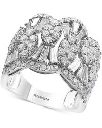 Effy Collection | Diamond Scalloped Statement Ring (2-1/4 Ct. T.w.) In 14k White Gold | Lyst