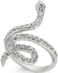 INC International Concepts - I.n.c. Woman Silver-tone Pavé Snake Statement Ring, Created For Macy's - Lyst