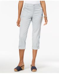 Style & Co. - Embroidered Capri Pants, Created For Macy's - Lyst