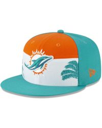 4e1064c8886 Lyst - KTZ Miami Dolphins Tc Training Bucket Hat in Blue for Men