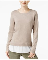 INC International Concepts - Layered-look Sweater - Lyst