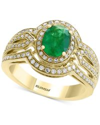 Effy Collection - Final Call By Effy® Emerald (1-1/6 Ct. T.w.) & Diamond (1/2 Ct. T.w.) Ring In 14k Gold - Lyst