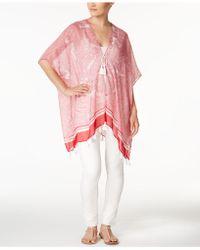 Steve Madden - Paisley Tassel Kimono - Lyst