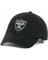 47 Brand - Oakland Raiders Clean Up Cap - Lyst
