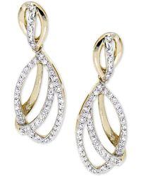 Wrapped in Love - Diamond Drop Earrings (1/2 Ct. T.w.) In 14k Gold - Lyst