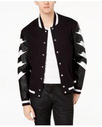 INC International Concepts - Strokes Varsity Jacket, Created For Macy's - Lyst