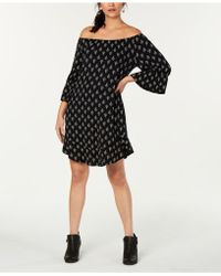 Style & Co. - Petite Printed Off-the-shoulder Dress, Created For Macy's - Lyst