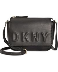 Lyst - Cole Haan Tilly Large Leather Crossbody Bag in Black 44670302ec1ea