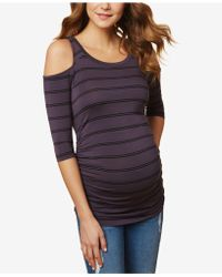 Jessica Simpson - Maternity Cold-shoulder T-shirt - Lyst