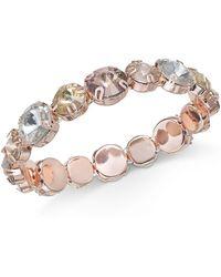 Anne Klein - Rose Gold-tone Multi-stone Stretch Bracelet - Lyst