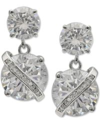 Giani Bernini - Cubic Zirconia Wrapped Drop Earrings In Sterling Silver, Created For Macy's - Lyst