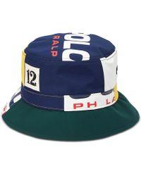 8daaa53e4dd9df Polo Ralph Lauren - Logo Graphic Bucket Hat - Lyst