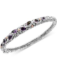 Effy Collection - Effy® Amethyst (2-3/4 Ct. T.w.) Bangle Bracelet In Sterling Silver & 18k Rose Gold-plate - Lyst