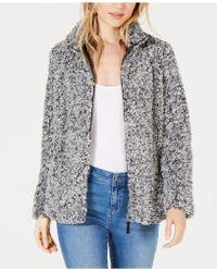 Style & Co. - Petite Fleece Sherpa Jacket, Created For Macy's - Lyst