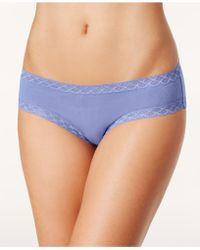 Natori - Bliss Lace-trim Cotton Brief 156058 - Lyst