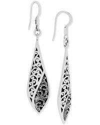 Lois Hill - Scroll Work & Filigree Twist Drop Earrings In Sterling Silver - Lyst