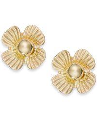 Macy's - Clover Stud Earrings In 10k Gold - Lyst