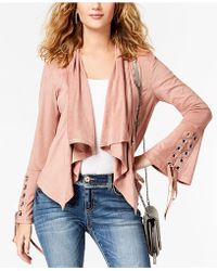 INC International Concepts - Bell-sleeved Faux Suede Jacket - Lyst