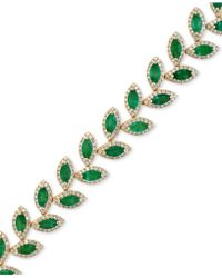 Effy Collection - Effy Emerald (10-4/5 Ct. T.w.) And Diamond (2-1/2 Ct. T.w.) Tennis Bracelet In 14k Gold - Lyst