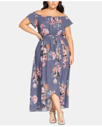 1b007635aec5 City Chic - Trendy Plus Size Florence Off-the-shoulder Maxi Dress - Lyst