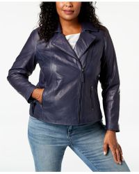 Charter Club - Plus Size Leather Moto Jacket, Created For Macy's - Lyst
