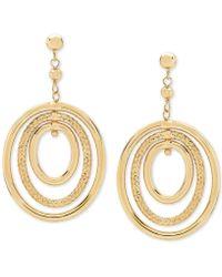 Macy's - Oval Orbital Drop Earrings In 10k Gold - Lyst