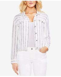 Vince Camuto - Pinstriped Button-up Jacket - Lyst