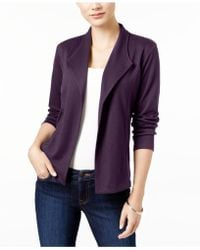 Style & Co. - Open-front Long-sleeve Blazer - Lyst
