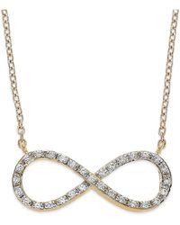 Macy's - Yelloratm Diamond Infinity Pendant Necklace In Yelloratm (1/6 Ct. T.w.) - Lyst