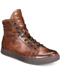 Kenneth Cole Reaction - Double Header High-top Trainers - Lyst