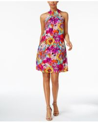 Cable & Gauge - Printed Shift Dress - Lyst