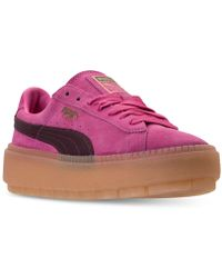 PUMA - Women's Suede Platform Rugged Casual Sneakers From Finish Line - Lyst
